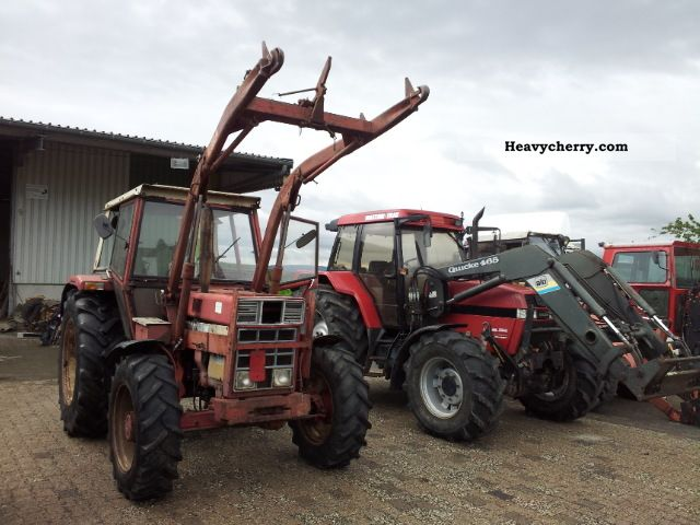 1976 Case  744 with front loader Agricultural vehicle Tractor photo