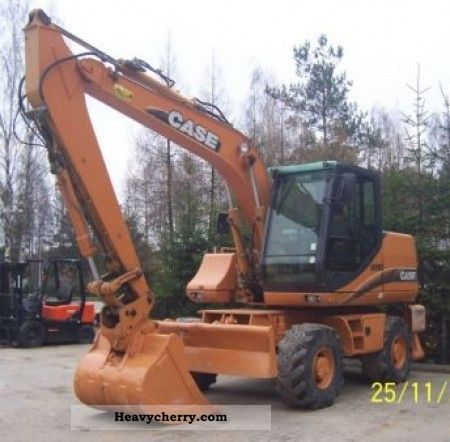 2003 Case  WX150 Construction machine Mobile digger photo