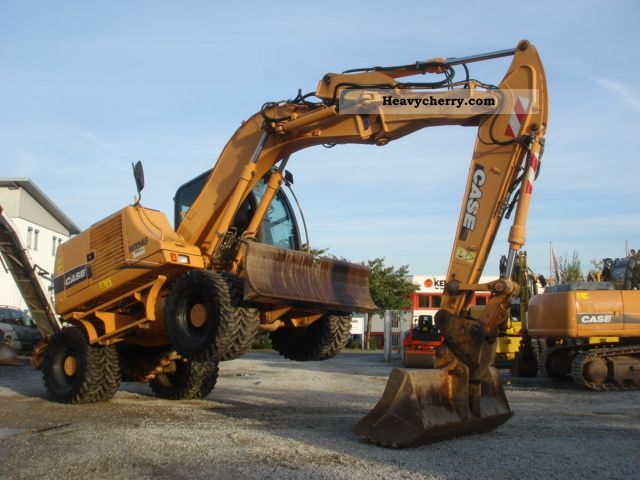 2005 Case  WX 145 / 2xPratzen/Schild/16000kg/SW / T O P Construction machine Mobile digger photo