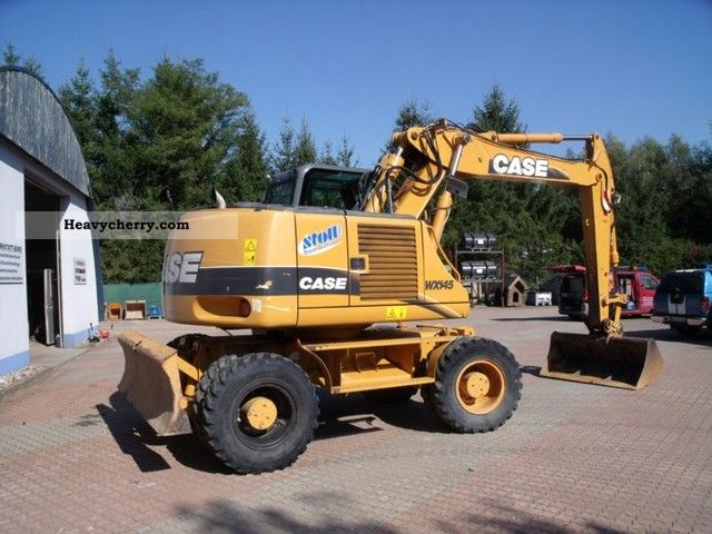 Case  WX145 2005 Mobile digger photo