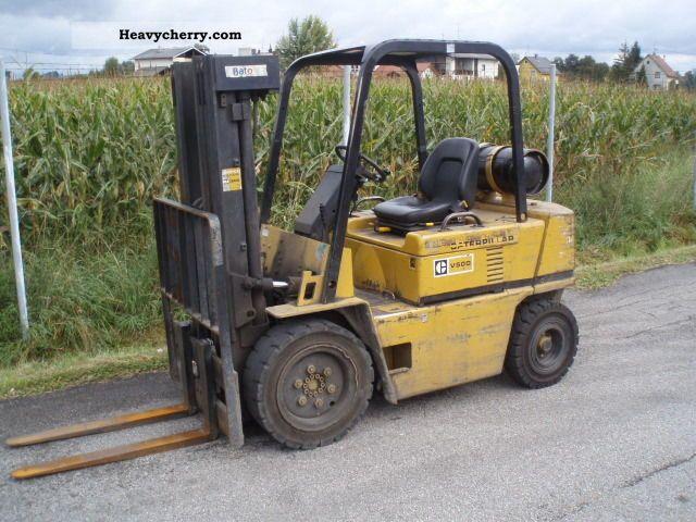 1992 CAT  V 50 D - TRIPLEX 4300 mm Forklift truck Front-mounted forklift truck photo