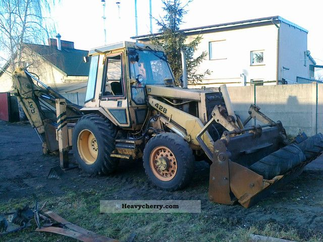 1986 CAT  428 Construction machine Mobile digger photo