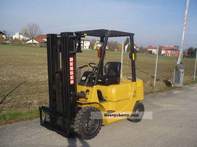 1999 CAT  DP 25 - TRIPLEX 4.3 m - SS - only 2904 Bts. Forklift truck Front-mounted forklift truck photo