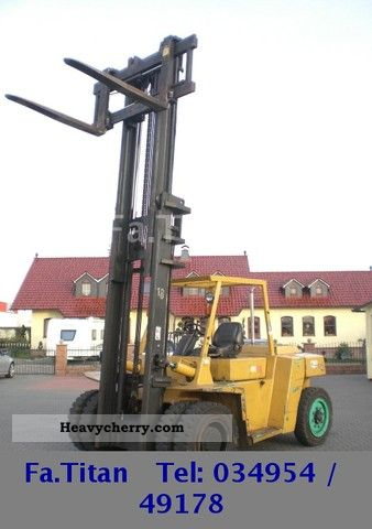 1997 CAT  DP 80 / 6-Zyl.Diesel / Hyd.Zinken \u0026 side shift Forklift truck Front-mounted forklift truck photo