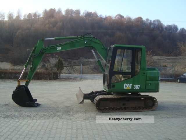 cat 307 1995 mini kompact digger construction equipment. Black Bedroom Furniture Sets. Home Design Ideas