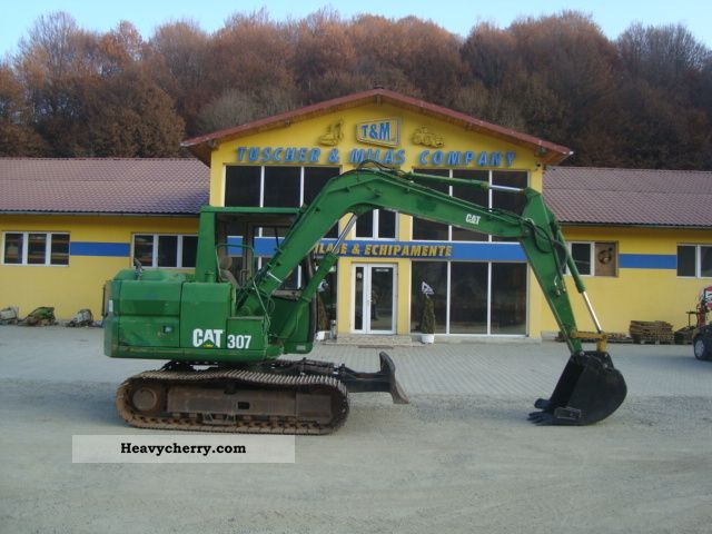 cat 307 1995 mini kompact digger construction equipment photo and specs. Black Bedroom Furniture Sets. Home Design Ideas