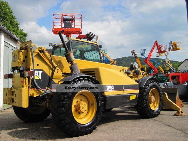 1996 CAT  Caterpillar TH63 TURBO 4x4x4 / auxiliary hydraulic Forklift truck Telescopic photo