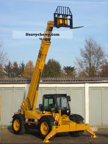 1998 CAT  Caterpillar TH63 TURBO 4x4x4 / auxiliary hydraulic Forklift truck Rough-terrain forklift truck photo