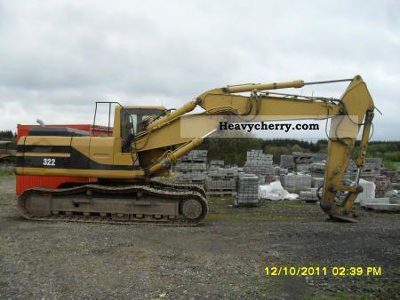 1998 CAT  LN 322 VA Construction machine Caterpillar digger photo