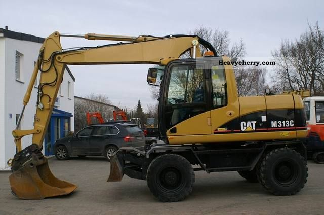 2007 CAT  M 313 C - shield, hydr. Boom - 30 km / h Construction machine Mobile digger photo