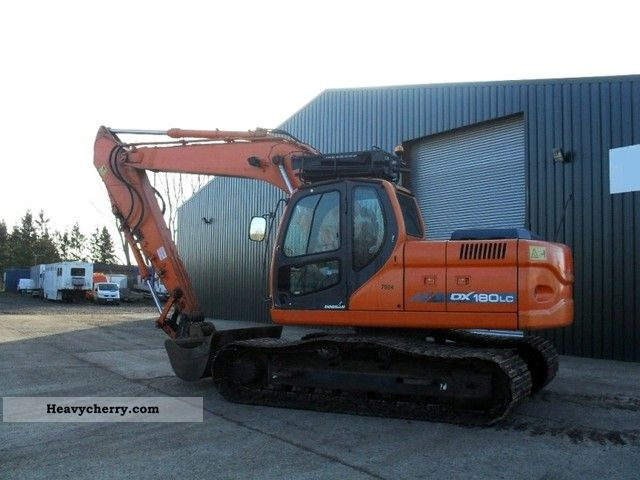 2007 Doosan  DX 180LC! 800mm chain! Construction machine Caterpillar digger photo