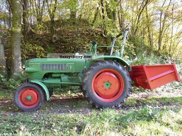 1960 Fendt  Fix2/FL with 120 neuw. Heckcontainer Agricultural vehicle Tractor photo