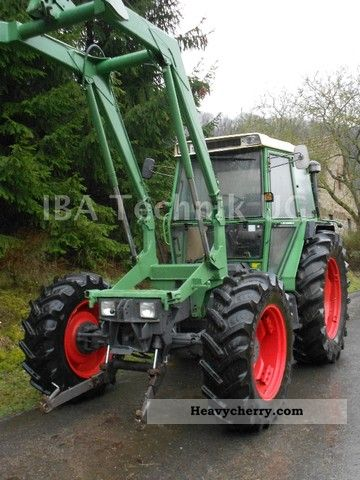 1990 Fendt  380 / 2S GTA loader hydraulic front-wheel drive Agricultural vehicle Tractor photo