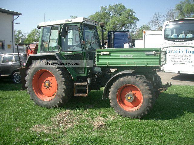 1992 Fendt  F 380 GTA GERAETETRAEGER 40 KM Agricultural vehicle Tractor photo