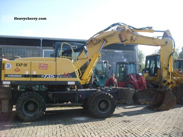 2001 Furukawa  735 LS ** New ** Bereifung/Stützschild/2x Praze Construction machine Mobile digger photo