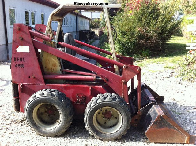 Gehlmax 4600 4610 Bobcat Loader 1988 Wheeled Loader