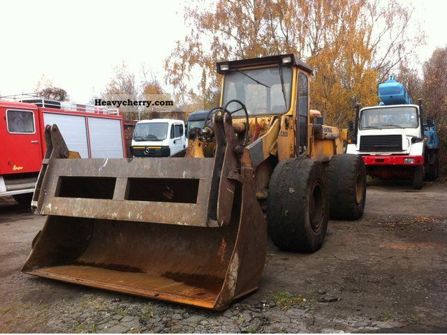 1988 Hanomag  C 55 D + blade clamp Construction machine Wheeled loader photo