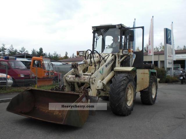 1992 Hanomag  Wisconsin Renders RL 100 11.5 t shovel and fork Construction machine Wheeled loader photo