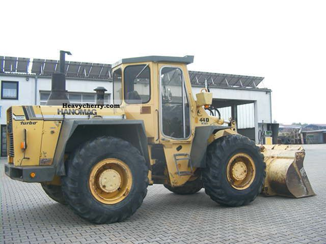 1988 Hanomag  44 D Turbo Construction machine Wheeled loader photo