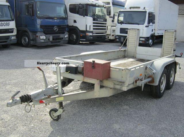 1997 Heinemann  Tandem lifts 3000kg Winch electric vans ramp Trailer Trailer photo