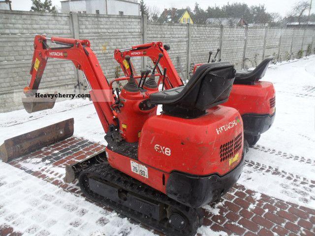 2006 Hitachi  EX 8 EX8 Construction machine Mini/Kompact-digger photo