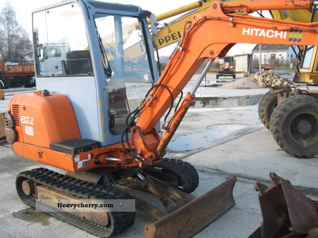 1996 Hitachi  EX 22 with 11 different spoons Construction machine Mini/Kompact-digger photo