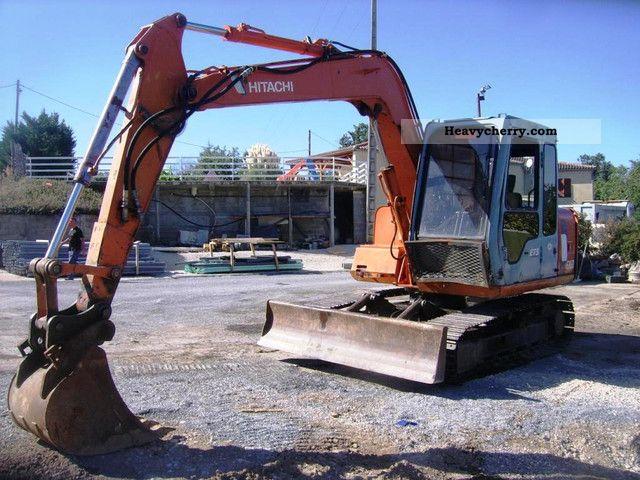 1997 Hitachi  EX 60 Chain Bj.97 shield Construction machine Caterpillar digger photo