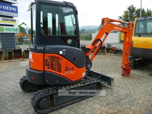 Hitachi Zx 27 U 2 2009 Mini Kompact Digger Construction Equipment Photo And Specs