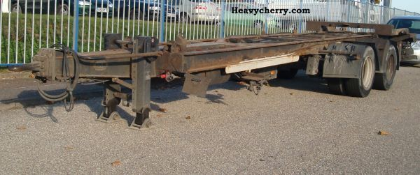 2004 HKM  18to tandem rolling sled trailer G18TSZL1, 3 Trailer Chassis photo