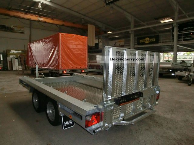 Hydraulic Platform Trailers : Hulco mini excavator transporter hydraulic work