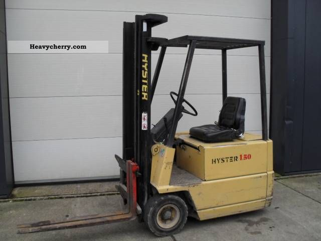 1988 Hyster  1.5 tons elecric Forklift truck Front-mounted forklift truck photo
