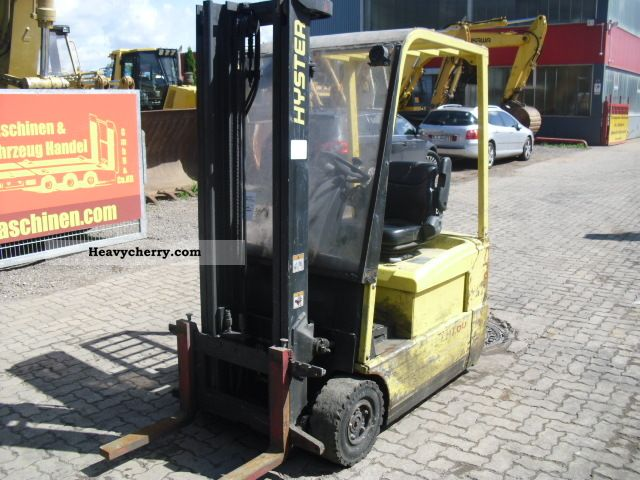 Hyster 1 6 T Electric Forklift 2004 Front Mounted Forklift Truck Photo And Specs