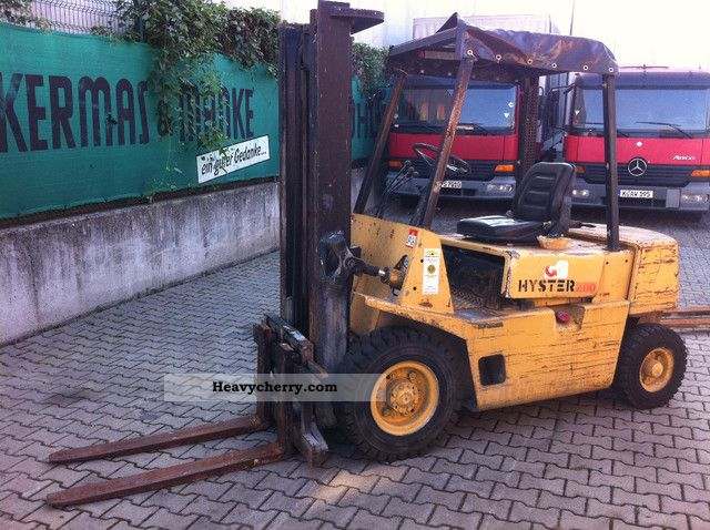 1991 Hyster  2:00 ----- 2.5t Sideshift / Diesel Forklift truck Front-mounted forklift truck photo