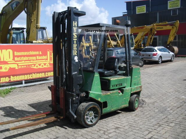 2001 Hyster  3.5 T Diesel Forklift Forklift truck Front-mounted forklift truck photo