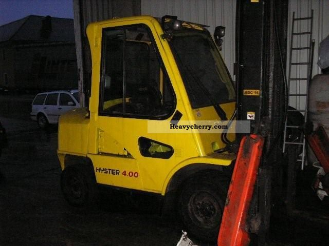2002 Hyster  4:00 Forklift truck Front-mounted forklift truck photo