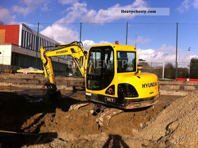 2008 Hyundai  55-7 Construction machine Mini/Kompact-digger photo