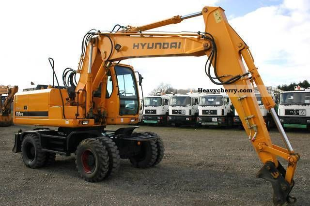 2007 Hyundai  170W-7 ROBEX 468 hours original new condition! Construction machine Mobile digger photo