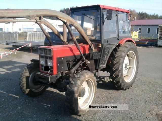 1986 IHC  733 wheel, 30 km / h, Cab, front loader, with MOT Agricultural vehicle Tractor photo