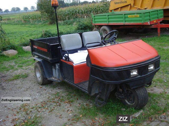 2003 Jacobsen  Cushman 3 wheel tipper Agricultural vehicle Loader wagon photo