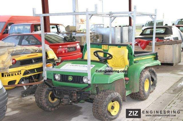 john deere 6x4 gator utility vehicle 2009 other agricultural vehicles photo and specs. Black Bedroom Furniture Sets. Home Design Ideas