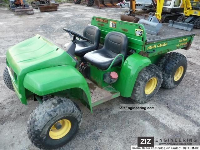 2008 John Deere 4 * 6-wheel Gator Agricultural vehicle Loader wagon ...
