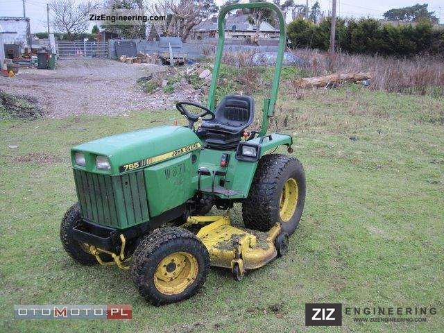 john deere 755 1997 agricultural tractor photo and specs. Black Bedroom Furniture Sets. Home Design Ideas