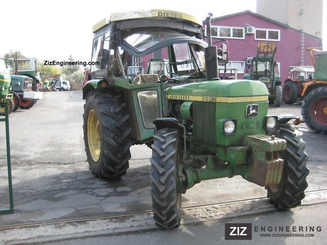 1973 John Deere  2030AS Agricultural vehicle Tractor photo