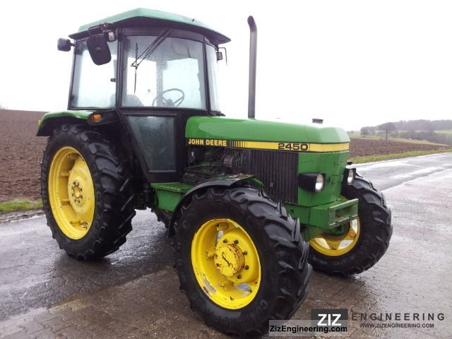 john deere 2450 1989 agricultural tractor photo and specs. Black Bedroom Furniture Sets. Home Design Ideas