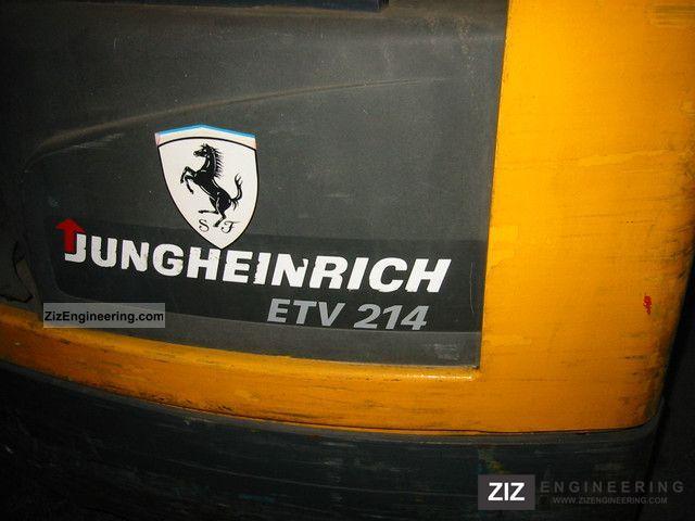 jungheinrich etv 214 2011 reach forklift truck photo and specs. Black Bedroom Furniture Sets. Home Design Ideas
