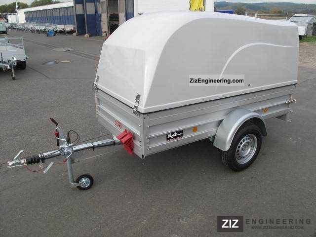 Koch hood trailer 100 km h 1 3 t bkb 2011 for Koch 125 250