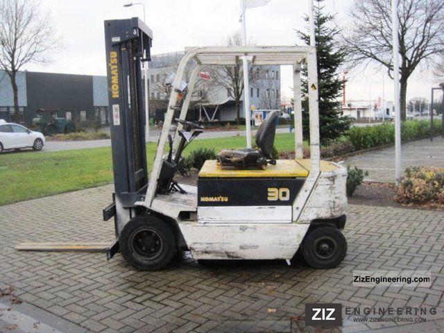 1993 Komatsu  FB 30 H - E 1 / 2007 Battery! Forklift truck Front-mounted forklift truck photo