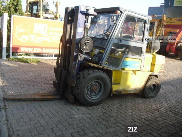 1996 Komatsu  FG 40 T-6 ** Triplex / gas \u0026 gasoline / cabin ** Forklift truck Front-mounted forklift truck photo