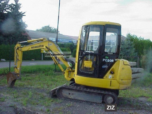 1998 Komatsu  PC20R-8 Construction machine Mini/Kompact-digger photo