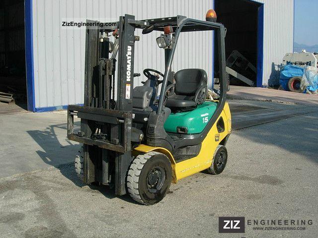 2007 Komatsu  FD 15T-20 Forklift truck Front-mounted forklift truck photo